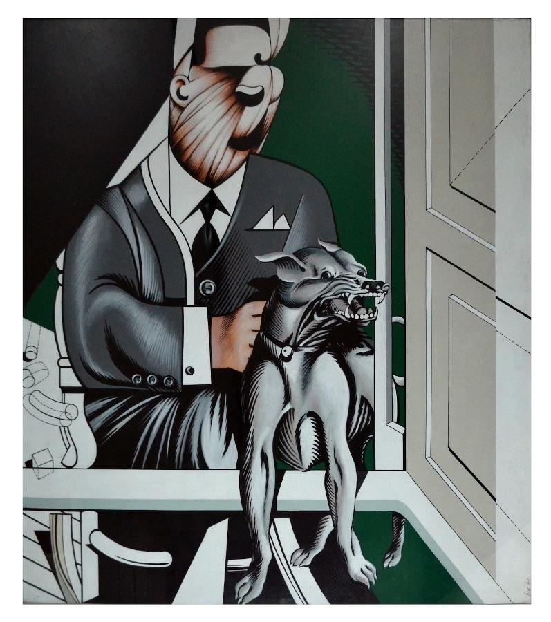 Sergio Sarri, L'uomo e il cane, 1967