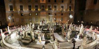Sfilata di Dolce&Gabbana a Piazza Pretoria, Palermo. Ph. Comune di Palermo