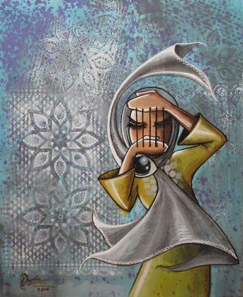 Shamsia Hassani - Canvas