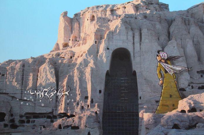 Shamsia Hassani Dream graffiti
