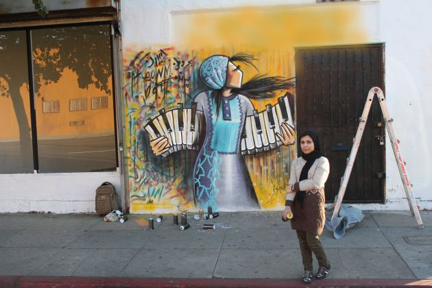 Shamsia Hassani - Wall Los Angeles