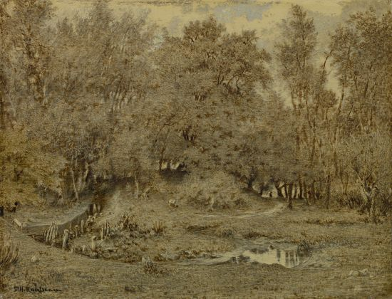 Théodore Rousseau, Brook in the Forest of Fontainebleau, 1849, The Mesdag Collection, The Hague