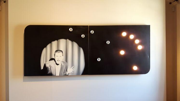 Thorsten Kirchhoff, Overdrive, olio su tela e lampadine