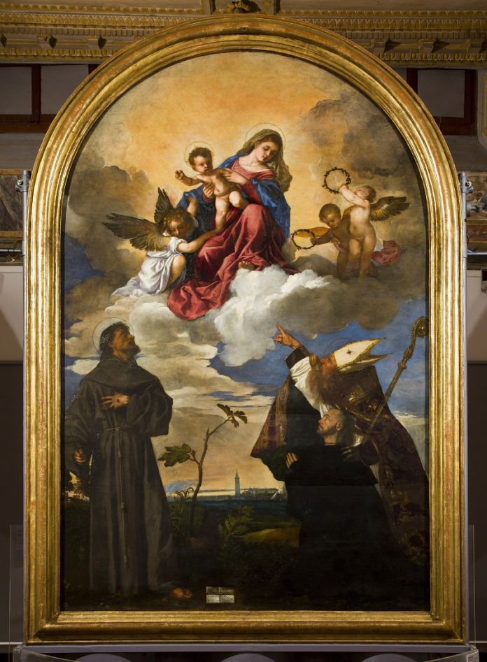Tiziano, Pala Gozzi, 1520. Ancona, Pinacoteca Civica