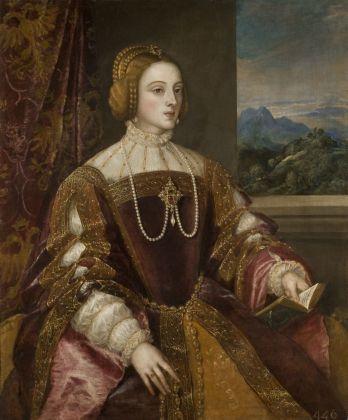 Tiziano Vecellio, L'Imperatrice Isabella di Portogallo, 1548. Madrid, Museo Nacional del Prado