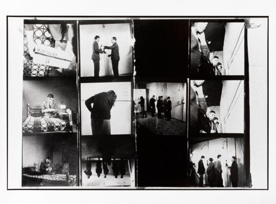 Uliano Lucas, Le linee di Piero Manzoni, mostra alla galleria Azimut, 1960