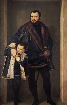 Veronese (Paolo Caliari), Ritratto del conte Iseppo da Porto con suo figlio Adriano, 1552, Gallerie degli Uffizi, Firenze
