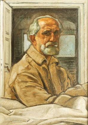 Vilmos Huszár, Autoritratto, 1960. Collezione privata © TonPors 2017