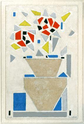 Vilmos Huszár, Vaso con fiori, 1959. City of Harderwijk