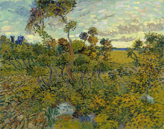 Vincent Van Gogh, Sunset at Montmajour, 1888, Private collection