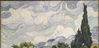 Vincent van Gogh, Campo di grano con cipressi 1889