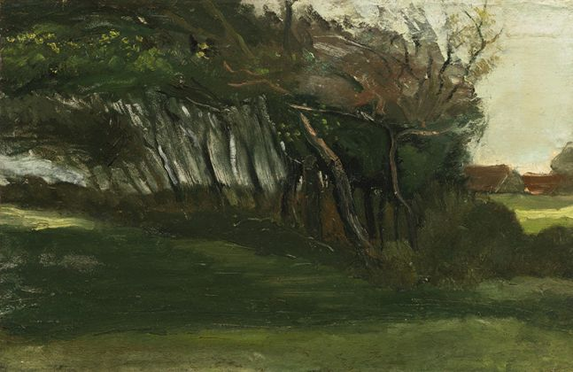 Vincent van Gogh, Windswept Trees near Loosduinen, 1883, Private collection