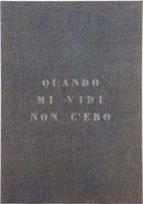 Vincenzo Agnetti, Autoritratto, 1971 (120 x 80 cm). Courtesy Archivio Vincenzo Agnetti