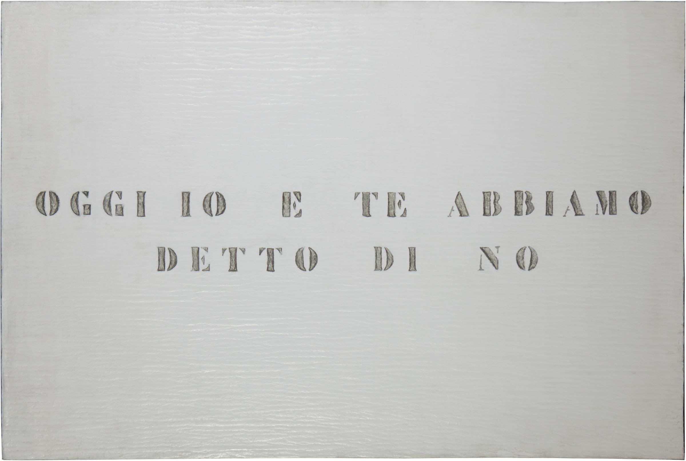 Vincenzo Agnetti, Ritratto, 1971 (80 x 120 cm). Courtesy Archivio Vincenzo Agnetti