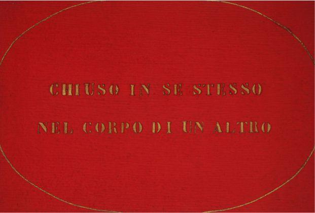Vincenzo Agnetti, Ritratto di amante, 1971 (80 x 120 cm). Courtesy Archivio Vincenzo Agnetti