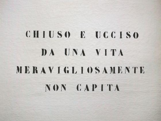Vincenzo Agnetti, Ritratto di uomo, 1971 (75 x 100 cm). Courtesy Archivio Vincenzo Agnetti