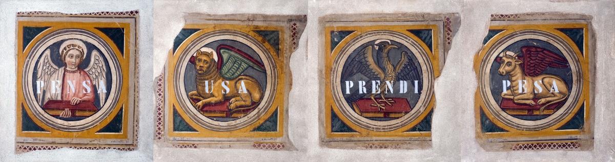 Vincenzo Agnetti, XIV XX secolo, 1970 (4 tele di 80 X 75 cm ciascuna). Courtesy collezione privata
