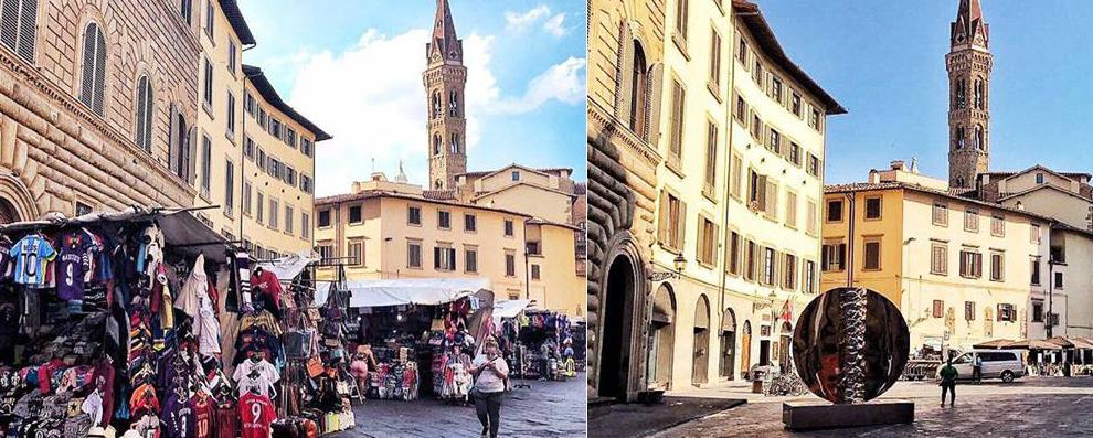 La Piazza San Firenze prima e dopo