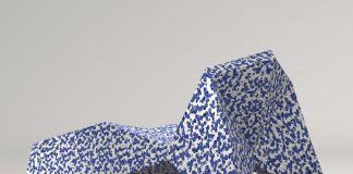 Atelier Mendini Alex chaise longue in plastica rotazionale. Collezione Ecopixel di Wet Italia, 2017 Progetto con Alex Mocika e Bruno Gregory