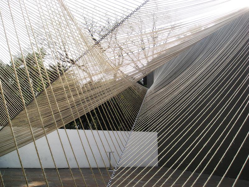 "Estudio MMX, Eco Pavilion, 2011, Mexico City. Courtesy of Buró-Buró/Museo Experimental el Eco. From the 2017 organizational grant to Buró-Buró for ""Libretas Pabellón Eco/Eco Pavilion"""