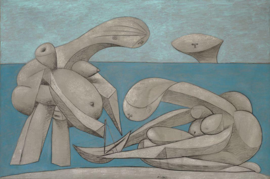 Pablo Picasso, Sulla spiaggia (La Baignade), 12 febbraio 1937, olio, conté e gesso su tela, 129,1 x 194 cm Peggy Guggenheim Collection, Venezia © Succession Picasso, by SIAE 2017