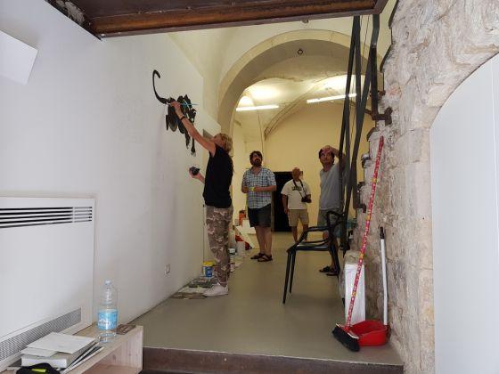Galleria Laveronica, murales, making of