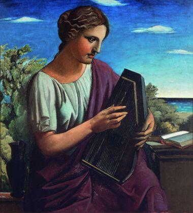 Achille Funi, Saffo, 1924, Collezione privata. Courtesy Studio d'arte Nicoletta Colombo, Milano