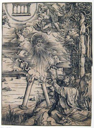 Albrecht Dürer, San Giovanni che divora il libro, 1502 ca. (dalla serie l' Apocalisse). Collezione Istituto Centrale della Grafica, Roma
