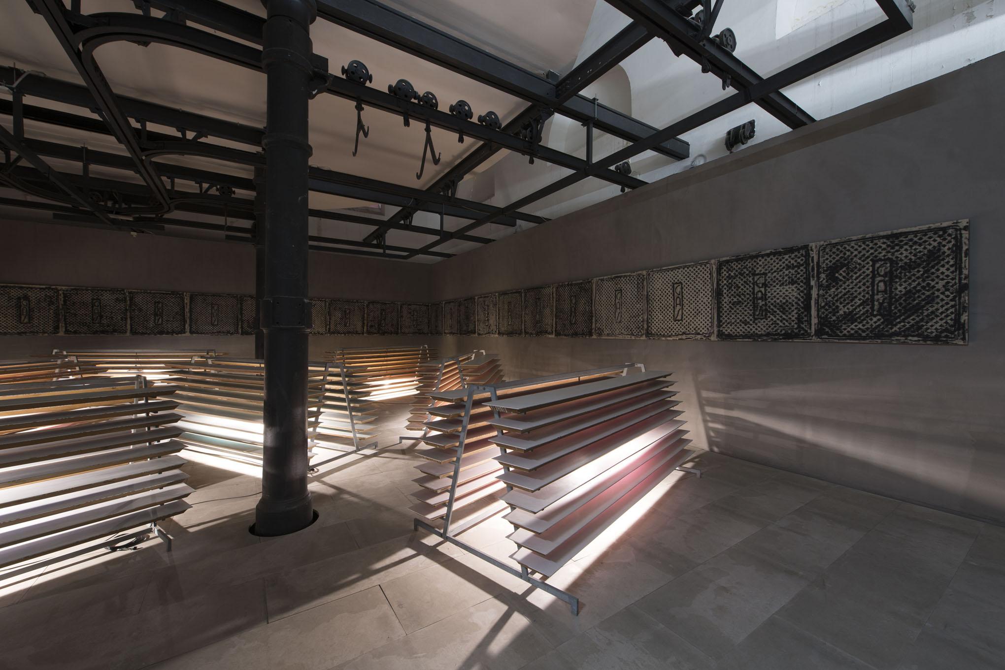 Alfredo Pirri. I pesci non portano fucili. Exhibition view at Museo Macro Testaccio, Roma 2017. Photo Giorgio Benni