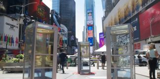 Aman Mojadidi, Once Upon a Place, in New York's Times Square. Courtesy of Brian William Waddell_FT SET for Times Square Arts.