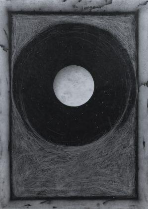 Andrea Lelario, Dall'altra parte della luna, grafite su cartoncino, 2016