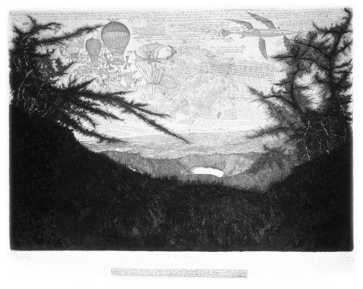 Andrea Lelario, La Via Sacra, 2003 4, acquaforte e bulino su rame