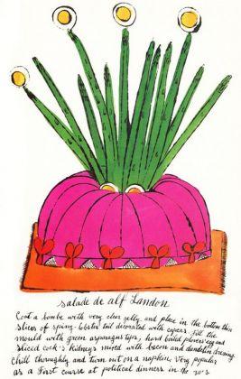 Andy Warhol, Salade de alf Landon, 1959. Dal libro d'artista Wild Raspberries