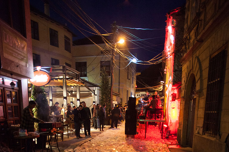 Autostrada Biennale, Jazz night in historical zone