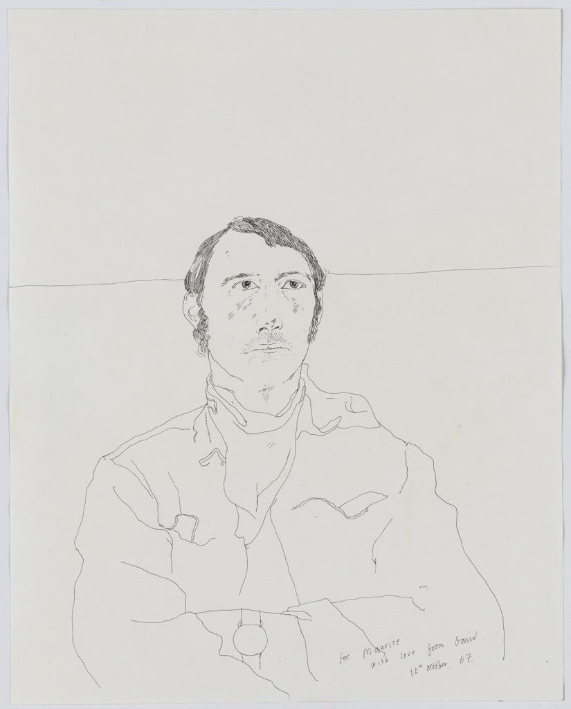 David Hockney, Maurice Payne, 1967. Courtesy Offer Waterman, Londra. Copyright David Hockney Inc.