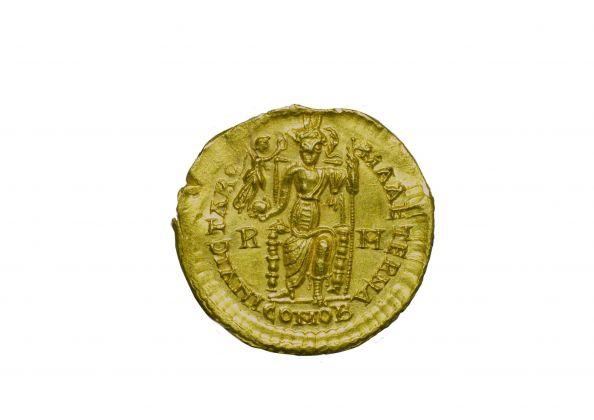 Denaro aureo di Prisco Attalo, 409 d.C.