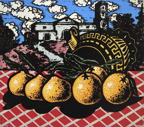 Ercole Pignatelli, Doppioni, 1966, olio su tela, 80x90. Ph. Fabrizio Stipari