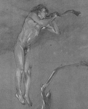 Francesco Parisi, Lamed Vav I, pastello e biacca su carta, 2012