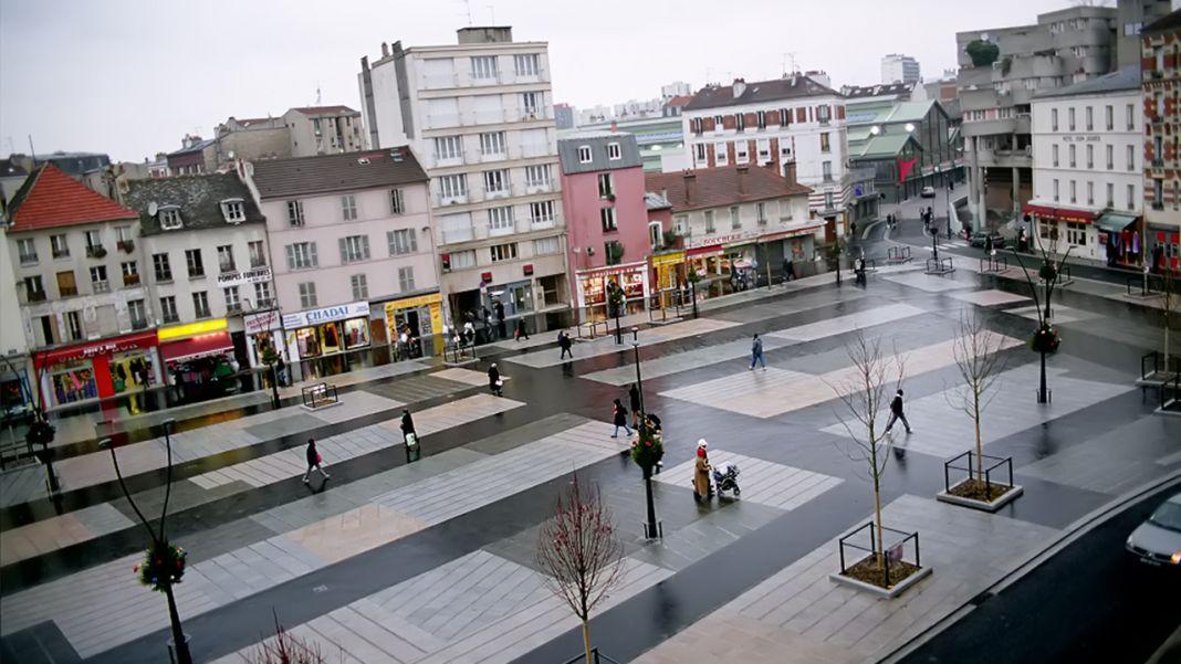 Franco Zagari, Place Jean Jaurès, Saint Denis 2005