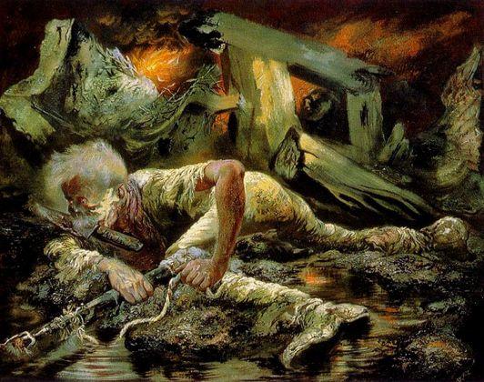 George Grosz, The Survivor, 1944. Los Angeles, The Robert Gore Rifkind Collection