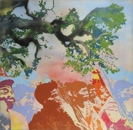 Giacomo Spadari, Vietkong, 1970, acrilico su tela, 120x120. Ph. Fabrizio Stipari