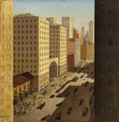 Gianfilippo Usellini, La Nonna delle case, 1926, Collezione Fanny Usellini, Milano