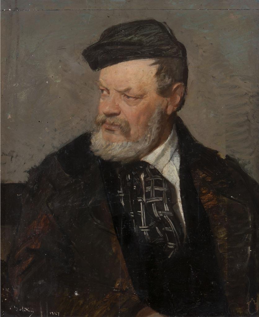 Giovanni Boldini, Ritratto del padre Antonio Boldini, 1867, olio su tela, 65x53cm, collezione privata, Ferrara