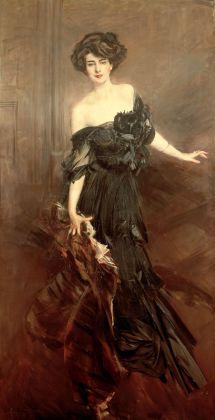 Giovanni Boldini, Ritratto di Mademoiselle De Nemidoff, 1908, olio su tela, 232x122cm, collezione privata