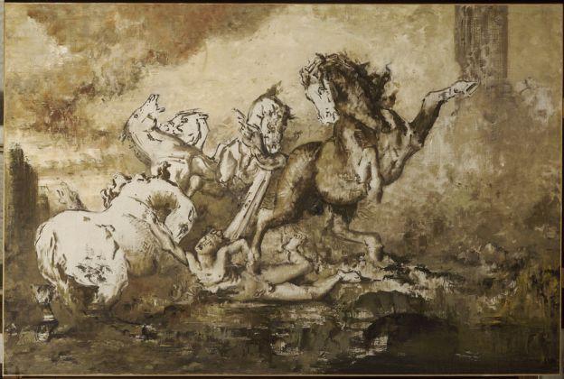 Gustave Moreau Diomedes devoured by his Horses (date tbc) Oil on canvas, 130 × 196 cm Musée national Gustave Moreau, Paris © RMN-Grand Palais / René-Gabriel Ojéda
