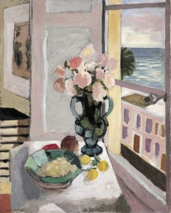 Henri Matisse, Safrano Roses at the Window, 1925. Photo © Private collection. Artwork © Succession H. Matisse DACS 2017.