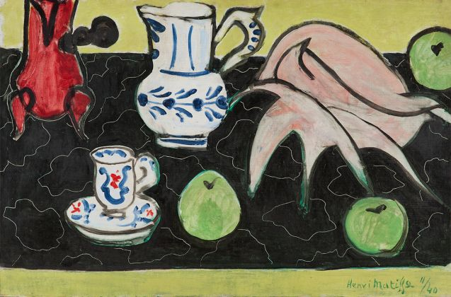Henri Matisse, Still Life with Seashell on Black Marble, 1940. The Pushkin State Museum of Fine Arts, Moscow. Photo Archives H. Matisse, © Succession H. Matisse. Artwork © Succession H. Matisse DAC