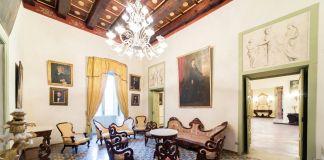 Gli interni di Palazzo Ruggi d'Aragona prima dell'incendio