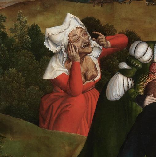 Joachim Patinir, Le Teantazioni di Sant'Antonio (particolare), 1515