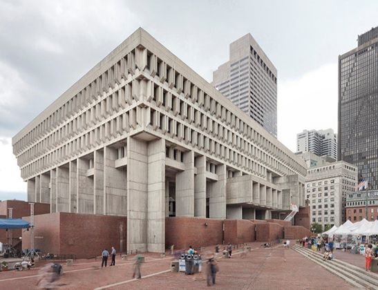 Boston City Hall (Kallmann, McKinnell, & Knowles, 1968), Boston, Massachusetts, Stati Uniti